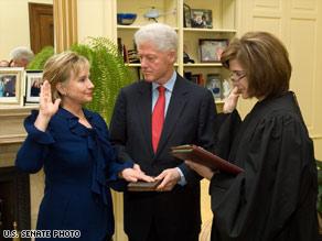 Hillary swearing in