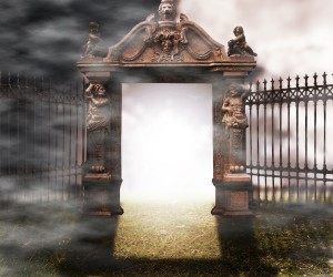 Gate Gothic Fantasy Background