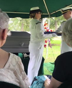 Dad's funeral honor guard flag