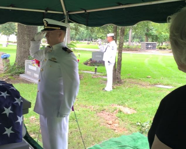 Dad's funeral honor guard taps
