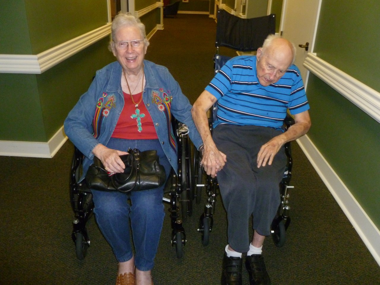 Mom and Dad in wheelchairs
